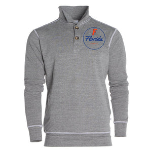 Official NCAA Florida Gators GATOR NATION! Womens 1/4 Button Pullover