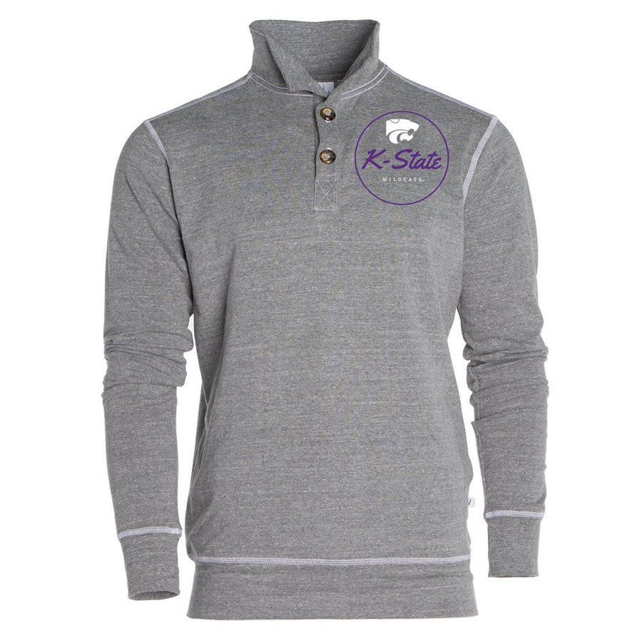 Official NCAA Kansas State University Wildcats KSU K-State Women's Unisex 1/4 Button Pullover