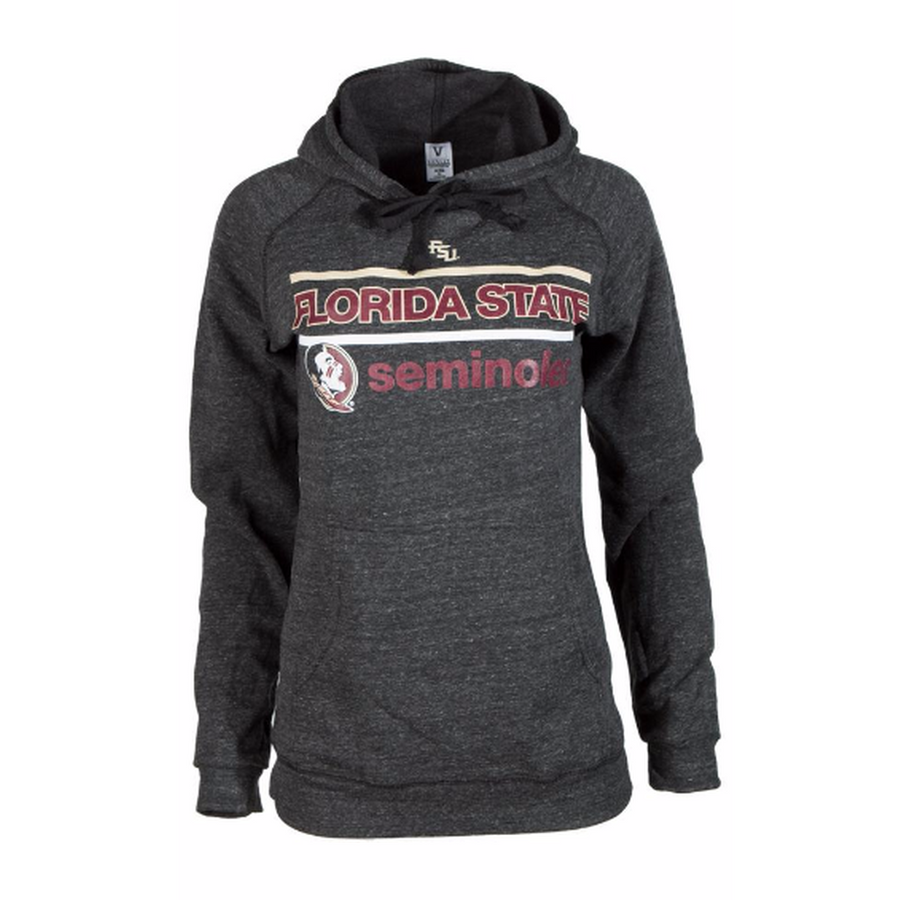 Official NCAA Florida State University Seminoles FSU Noles Women's Buttersoft Tri- Blend Hooded Sweatshirt