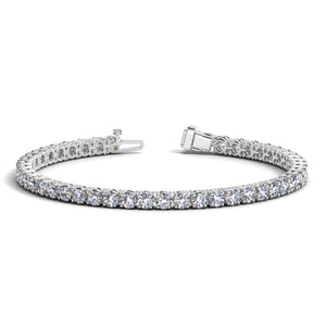 14k White Gold Round Diamond Tennis Bracelet (10 cttw)