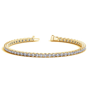 14k Yellow Gold Round Diamond Tennis Bracelet (5 cttw)