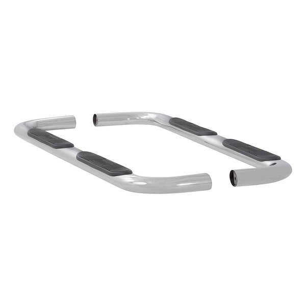 4in Stainless Tube Step Nerf Bar Ford F-150 Super Crew Cab  2015 or 2017+ Super Duty Crew Cab - stainless steel 441523