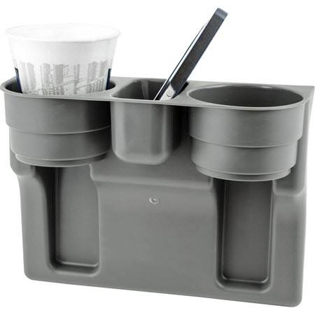 Dual 2-Cup GRAY Drink WEDGE CUP HOLDER