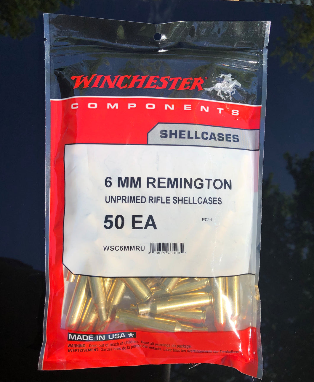 Winchester 6mm Remington Brass