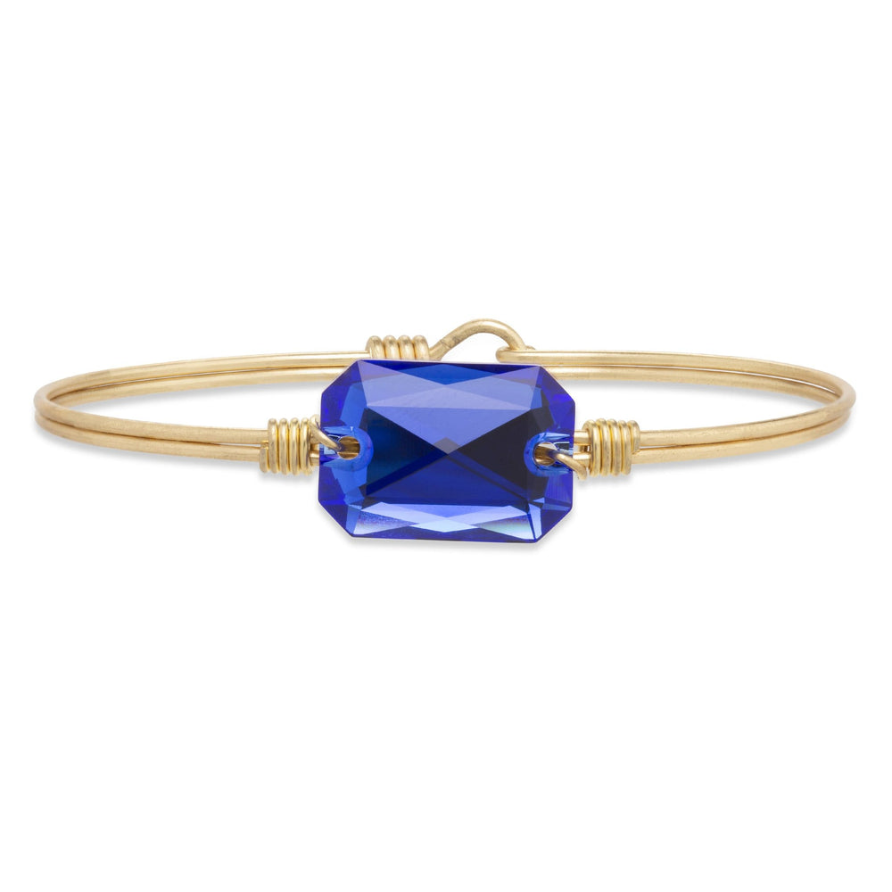 Dylan Bangle Bracelet in Majestic Blue