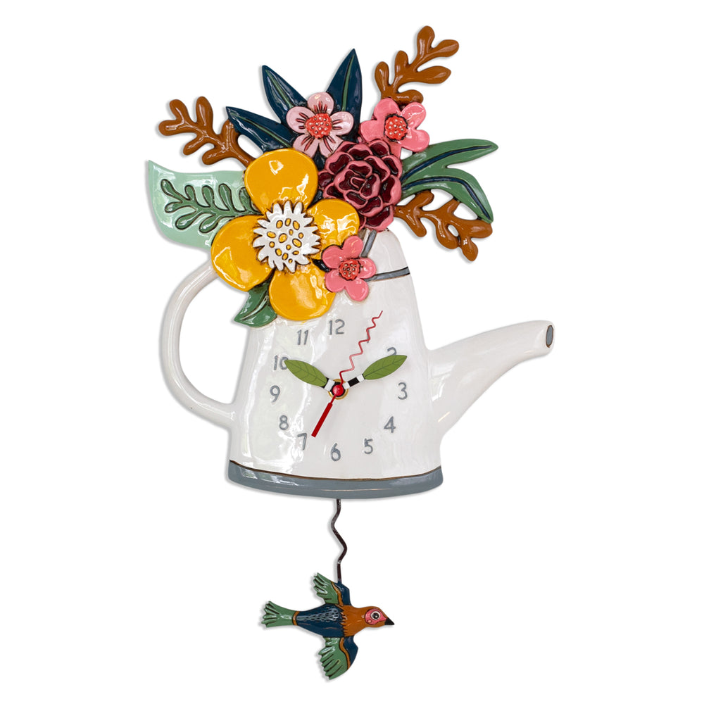 Blossoms (Watering Can) Pendulum Clock