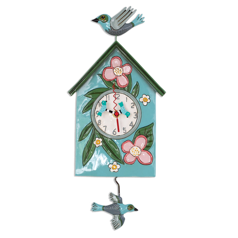 Blessed Nest (Watering Can) Pendulum Clock