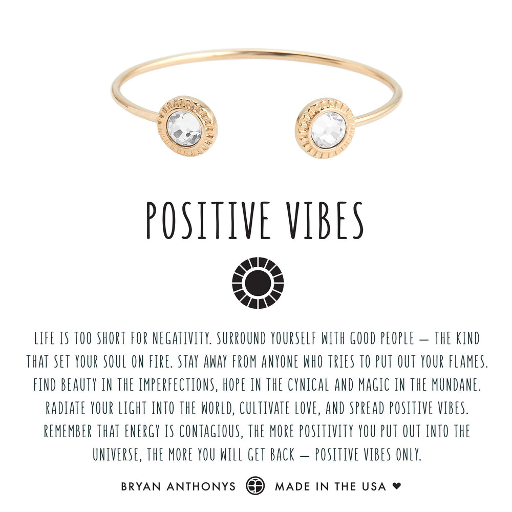 Positive Vibes Cuff