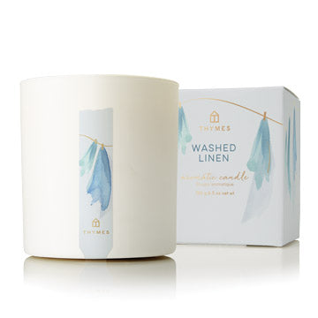 Washed Linen Poured Candle