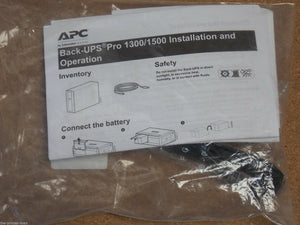 APC Power-Chute Personal Edition ver 3.02 for Back-UPS Pro 1300 / 1500 New in package