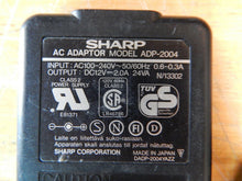 Load image into Gallery viewer, SHARP ADP-2004 AC Power Supply Adapter Charger Output DC 12V 2.0A 24VA