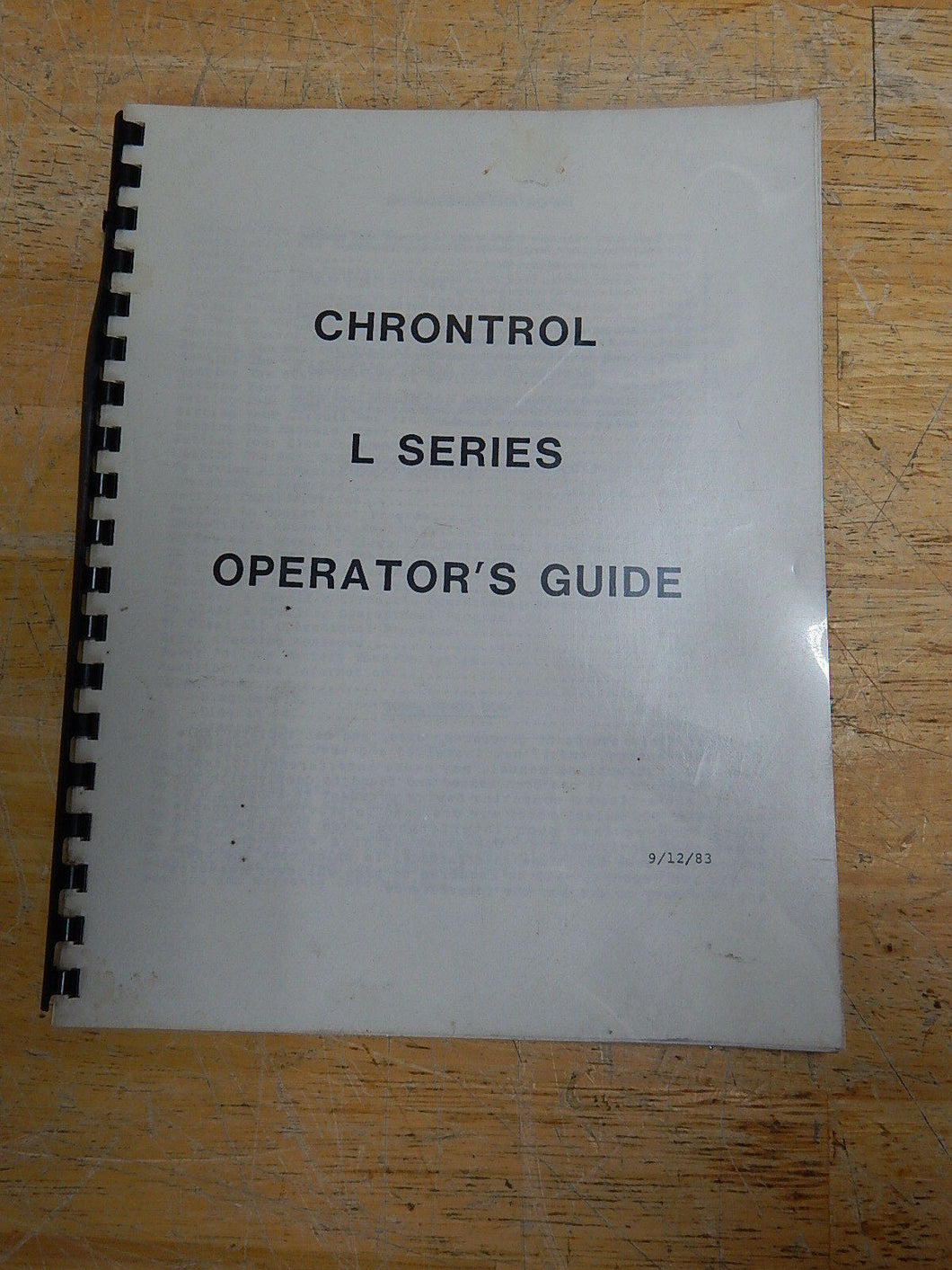 Chrontrol L Series Operators Guide Manual