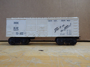 "Lionel - White Frisco SL-SF 6014 7-57 White Box Car ""Ship It On The Frisco"""