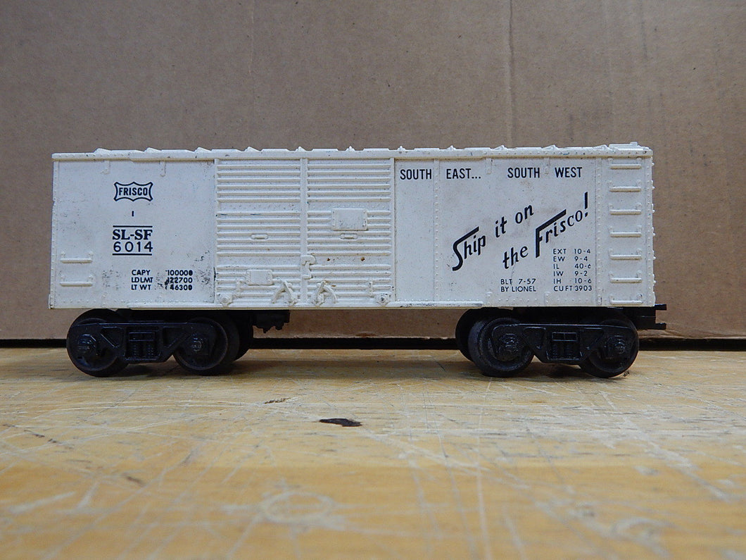 Lionel - White Frisco SL-SF 6014 7-57 White Box Car