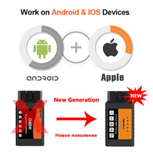 Load image into Gallery viewer, Universal OBD2 WIFI ELM327 V 1.5 Scanner for iPhone IOS Auto OBDII Scan Tool OBD 2 ODB II ELM 327 V1.5 WI-FI ODB2
