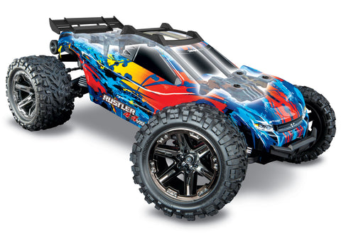 Traxxas Rustler 4X4 VXL: 1/10-scale 4WD Brushless Stadium Truck-Cars & Trucks-Mike's Hobby