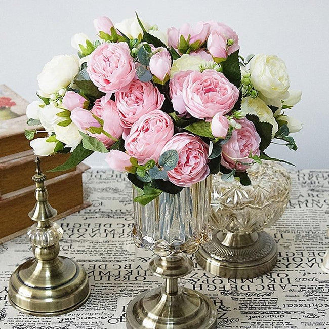 Artificial Silk Flowers rose bouquet [The Best Affordable Online Ethnic Shop] - Unusual Trendy