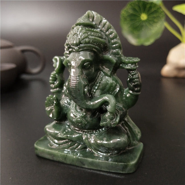 Ganesha Buddha Statue Indian God [The Best Affordable Online Ethnic Shop] - Unusual Trendy
