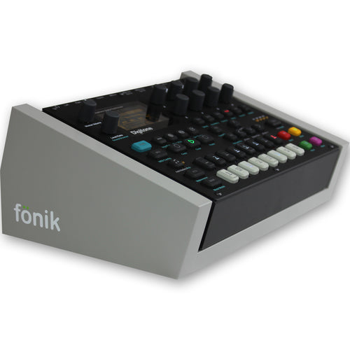 fonik stand for elektron digitone or digitakt in grey