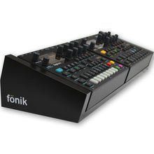 Load image into Gallery viewer, fonik stand for 2 elektron digitone or digitakt in black