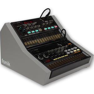 fonik stand for 2 korg volca in grey