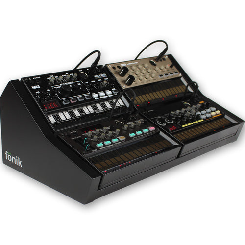 fonik stand for 4 korg volca in black