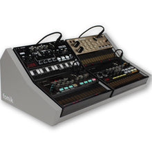 Load image into Gallery viewer, fonik stand for 4 korg volca in grey