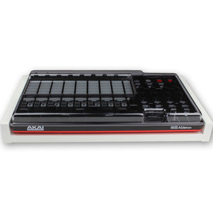 white fonik stand for akai apc40 mk2 shown with decksaver cover