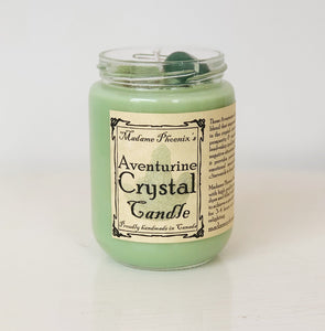 Aventurine Crystal Spell Candle