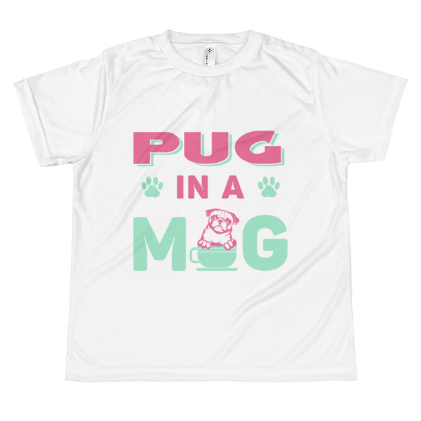 Pug in a Mug ~ All-over youth sublimation T-shirt Clothes PUGYOU