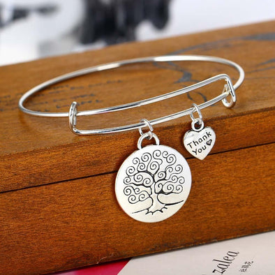Yoga-Supreme™ Tree of Life Heart Bracelet