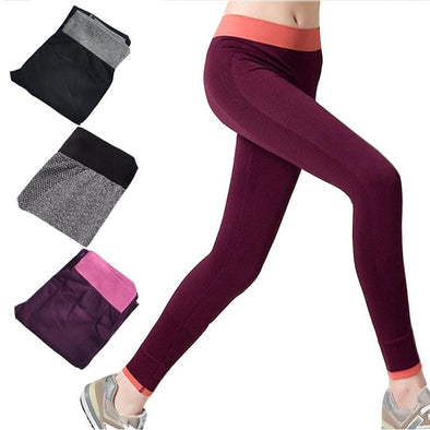 Seamless Solid Fitness Skinny Sport Leggings