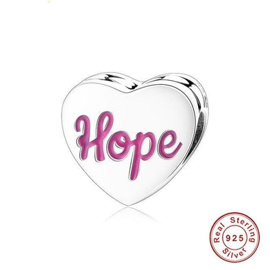 Yoga-Supreme™ 925 Sterling Silver Hope Charm