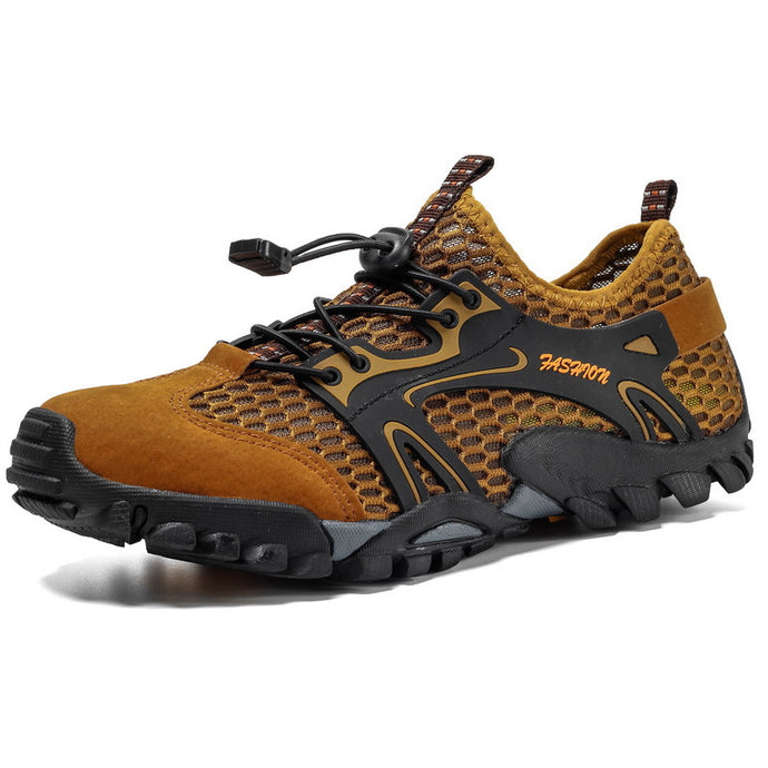 Men's Shoe Breathable Mesh Casual Light Outdoor Hiking Shoes