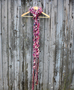 Braided Lariat Scarf - Mulberry
