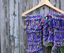 Load image into Gallery viewer, Ribbon Candy Scarf - Electric Purple