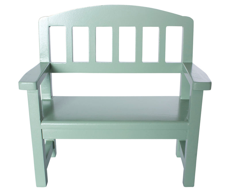 Maileg Wooden Bench Mint Green Mini