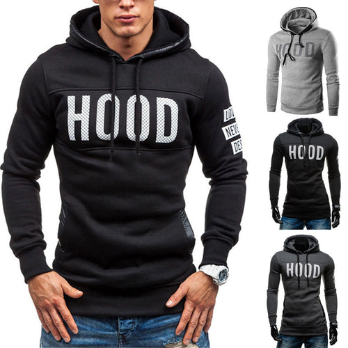 Men's Fitted Slim Winter Pullover Hoodie