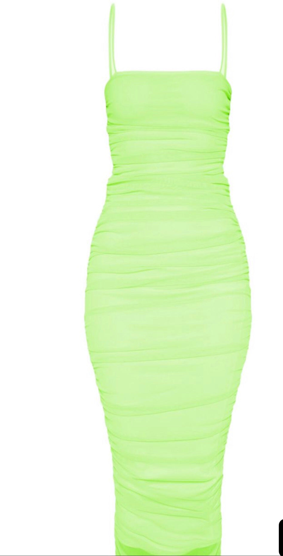 See Through  me ruched dress - RoyalRaine