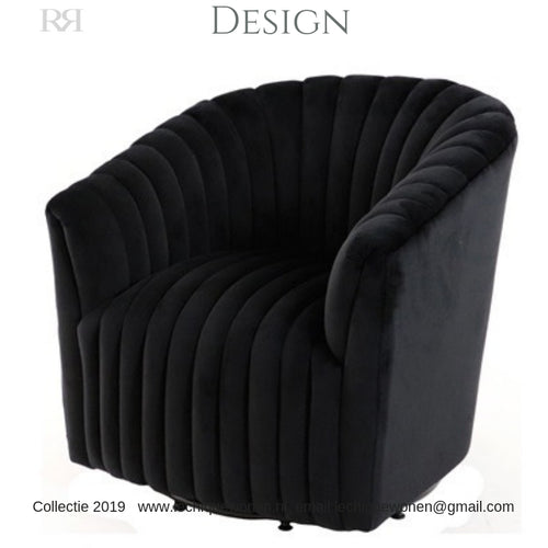 ARM CHAIR DOROTHY BLACK VELVET
