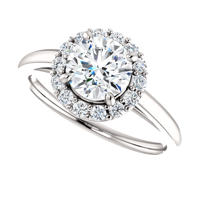 The Elise - Round Halo Diamond Engagement Ring