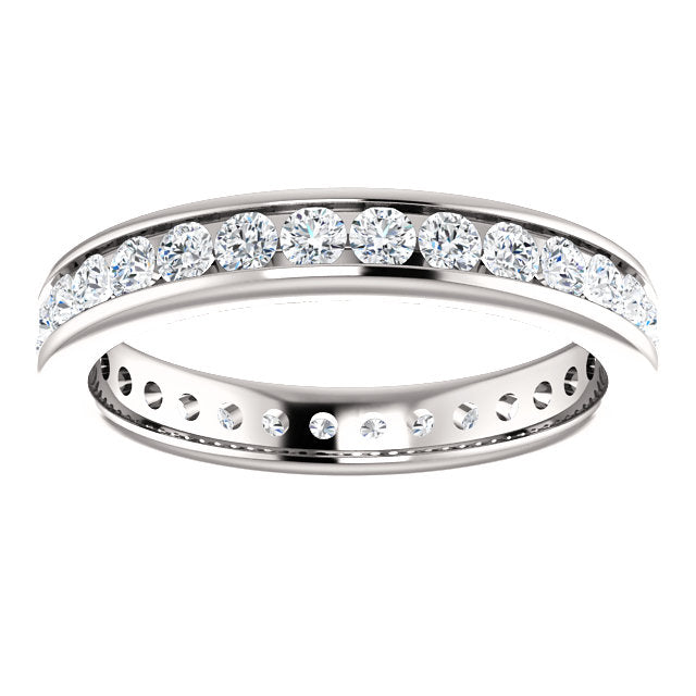 1.00ct 14k Diamond Eternity Classic Channel Set Band