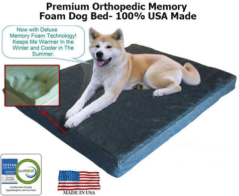 Memory Foam or GEL Memory Foam Pet Bed - Extra Large for Bigger Dogs