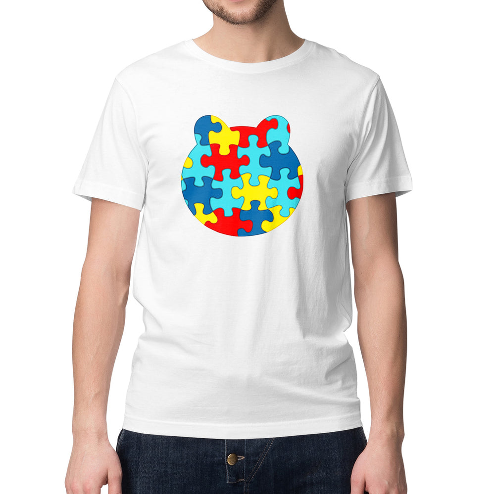 Men's Printed Autism Awareness T-Shirt