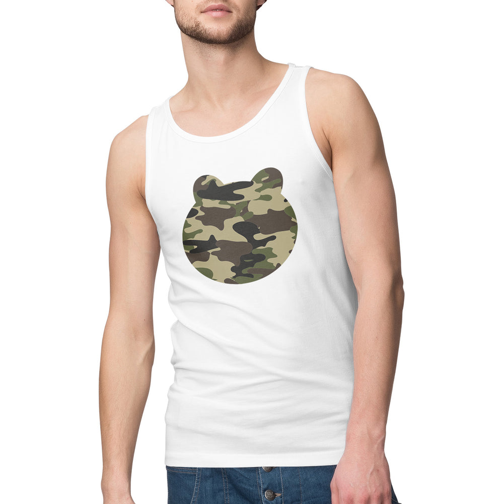 Men's Printed Camo Head Singlet