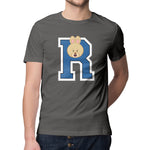 Men's Printed College R T-Shirt