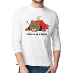 Men's Printed Sleepy Bear Long Sleeve T-Shirt