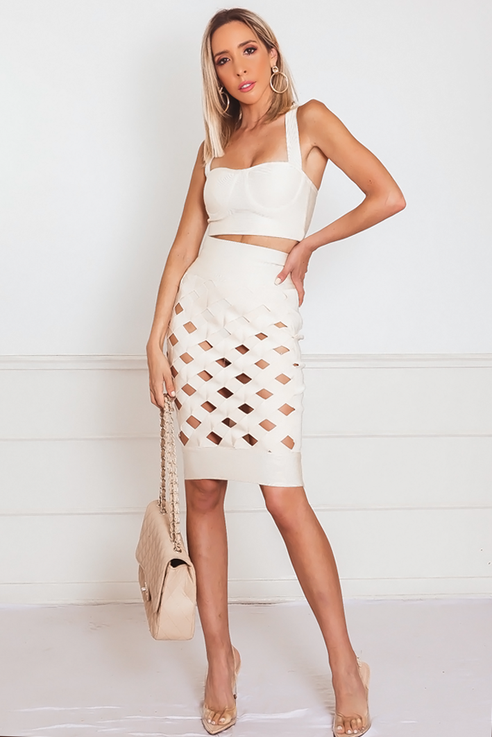 Cross Strap Bandage Skirt