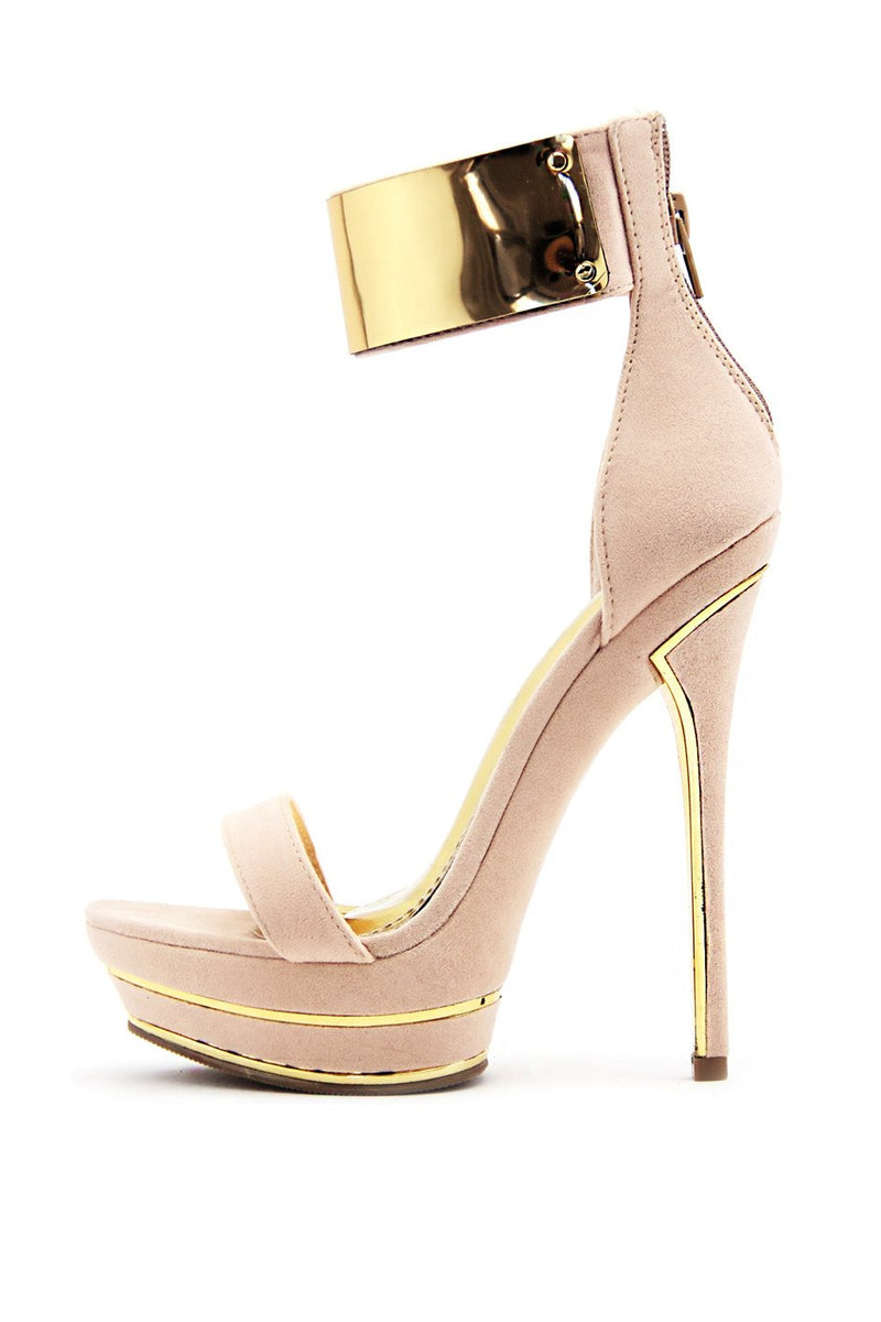 COURTNEY GOLD PLATED PLATFORM - Haute & Rebellious