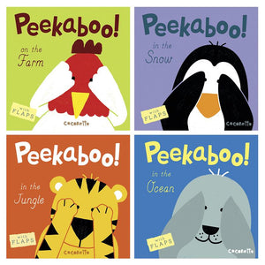 Peekaboo Complete Set Of 4 Board Books